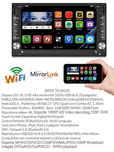 autoestereo wifi ksd android 6.0 gps 6.2 dvd bt mirrorlink