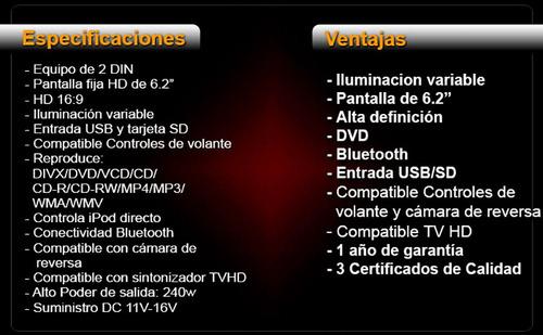 autoestereos vak 2216 dvd pantalla touch ipod bluetooth usd