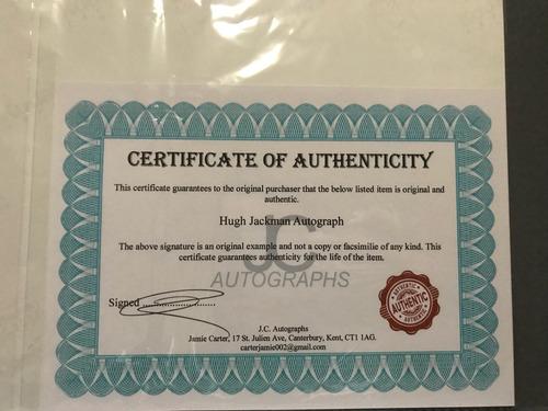 autografo hugh jackman logan