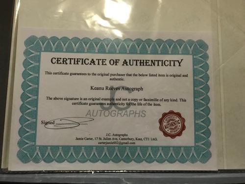 autografo keanu reeves neo - the matrix