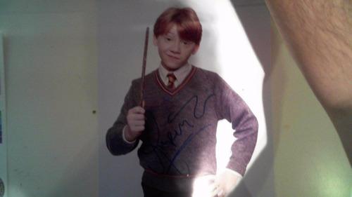 autografo rupert grint / ronald weasley original hary potter