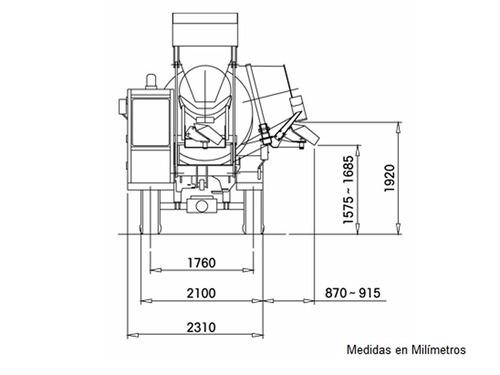 autohormigonera hormigonera mixer carmix 2.5tt motorman