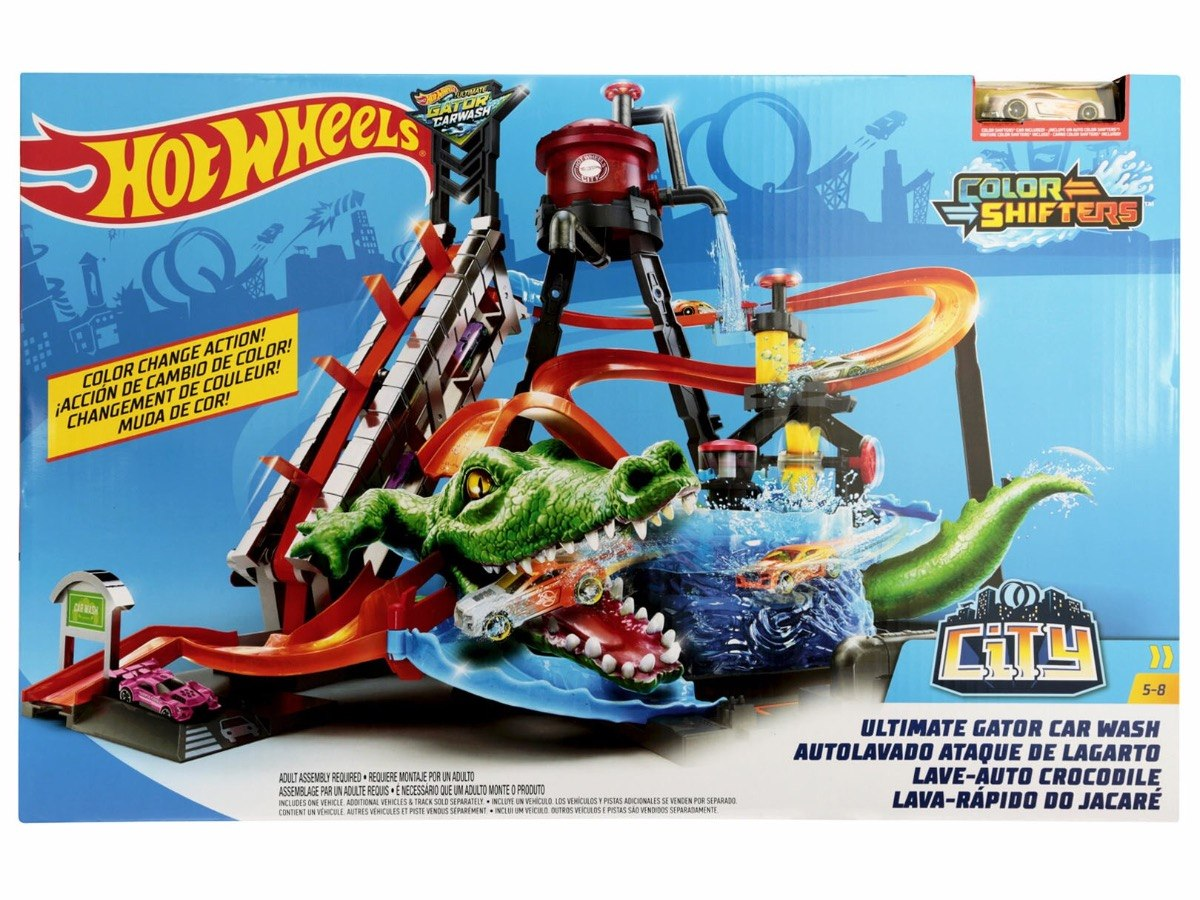 Autolavado Ataque De Lagarto Hot Wheels City Autopista 1 799 00