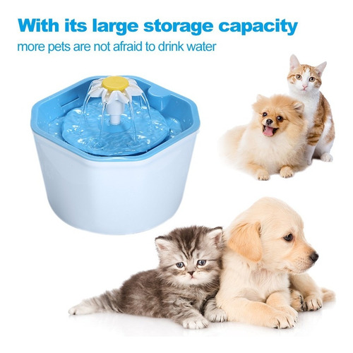 automática gato agua fuente eléctrico para mascotas bebedor