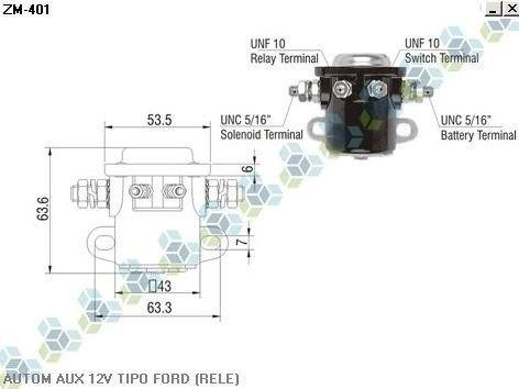 automatico auxiliar motor partida 12v tipo ford (rele)