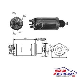 automatico motor partida 28mt-partida sistema delco remy 24