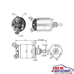 automatico motor partida jd-partida sistema bosch 24v