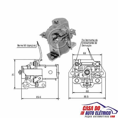 automatico motor partida sistema bos. scania 113 1992 a 1999