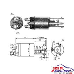 automatico motor partida sistema magneti . palio 1996 a 2008