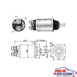 automatico motor partida sistema. vw - caminhoes 1991 a 1996