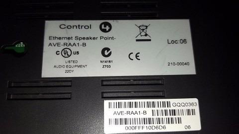 automatizacion control 4 speker point ave-raa1-b internet