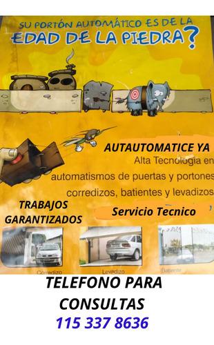 automatización de portones,alarmas,camaras.