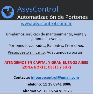 automatización y service de portones eléctricos