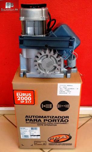 automatizador portão deslizante industrial 2000kg ppa eurus