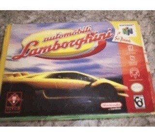automobile lamborghine nintendo 64 c/ caixa + manual,salvand