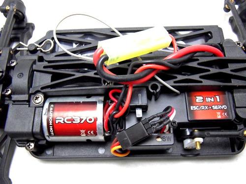 automodelo elétrico 4x4 spino himoto completo controle 2.4gh