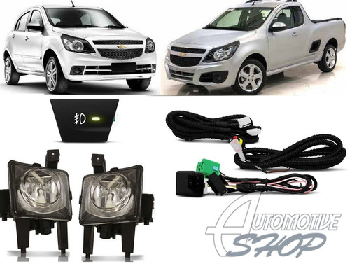 automotive shop farol aux/milha gm agile 09/13 montana 11/13