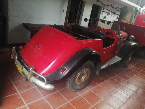 automovil singer 1952 motor 4ad2234wdts rojo /negro