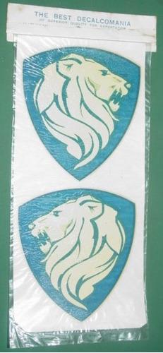automovilismo calcomania agua antigua logo peugeot leon