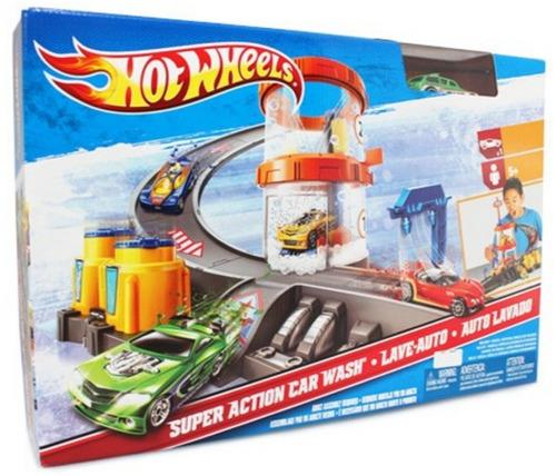 autopista hot wheels auto lavado autolavado - nueva