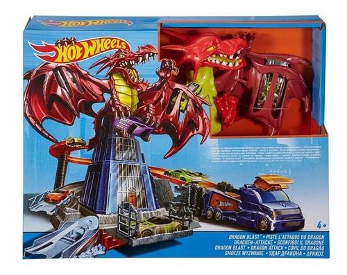 autopista hot wheels dragón explosivo