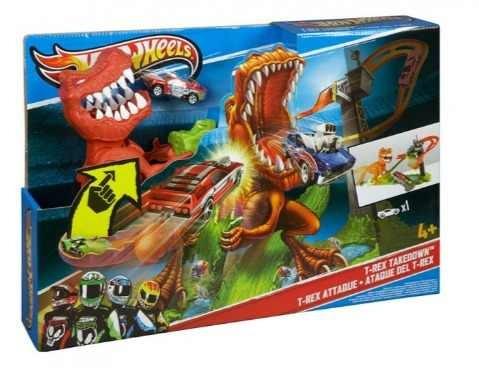 autopista hot wheels duelo de t-rex t rex - envio gratis
