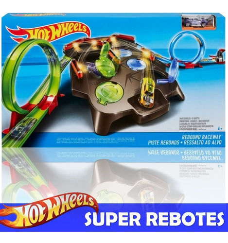 autopista hot wheels pista super rebotes autos