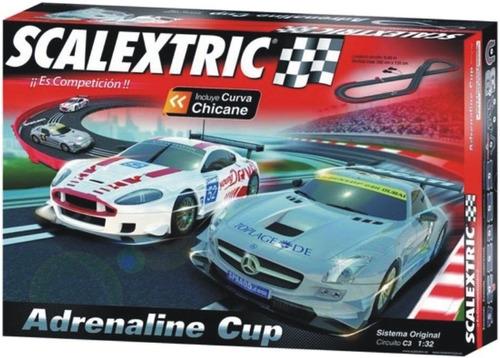 autopista scalextric c3 adrenaline cup slot 1/32 6.66 mts.