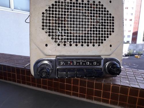 autoradio chieftain usa, decada 1950,caixa metalica.