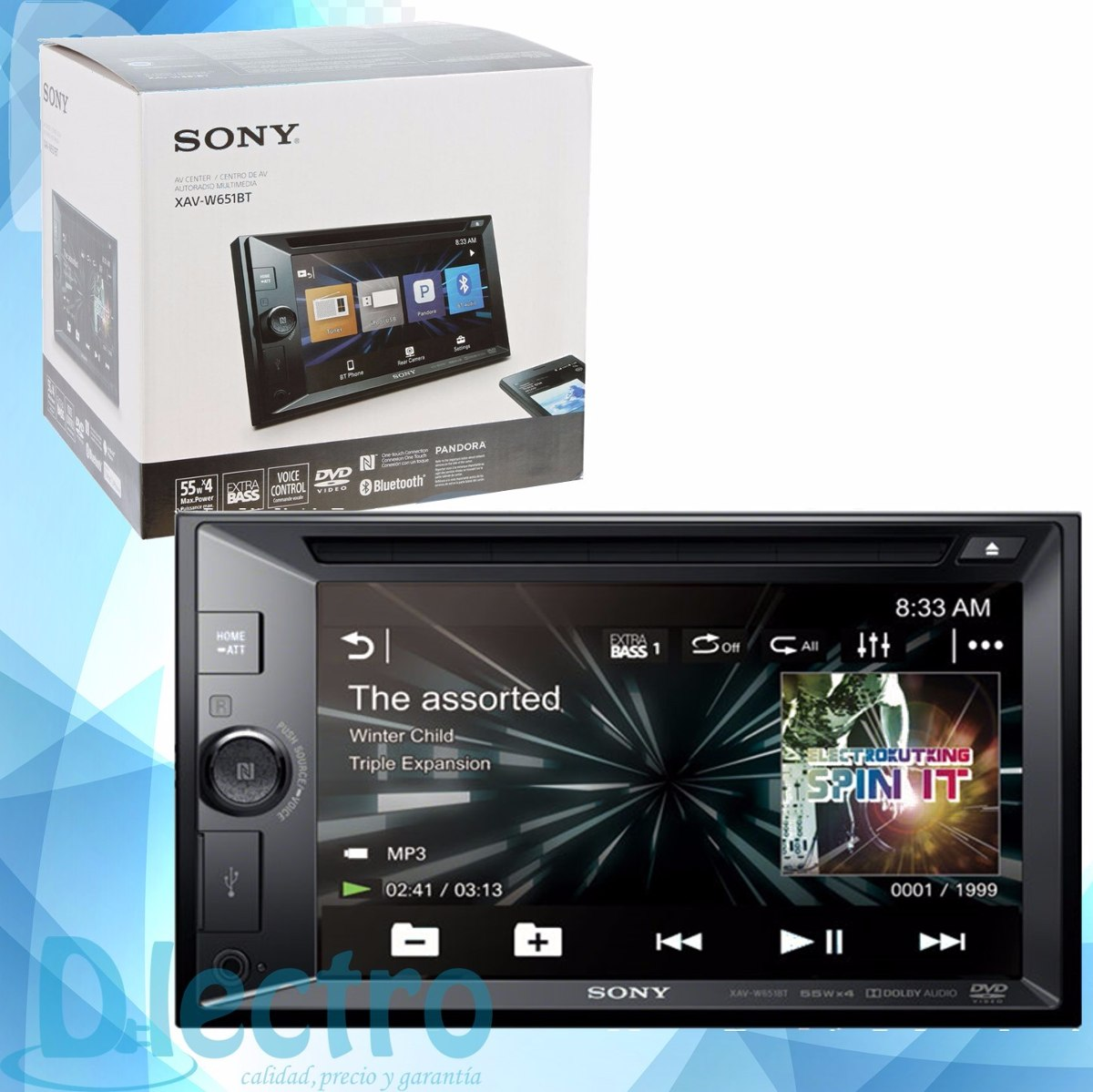 autoradio sony xav w651bt bluetooth nfc xplod auto. Black Bedroom Furniture Sets. Home Design Ideas