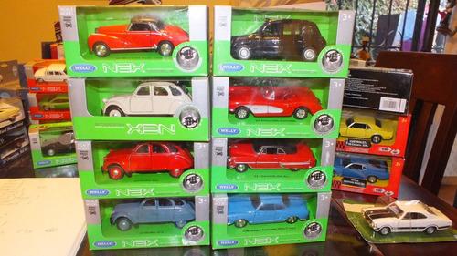autos antiguos de colección a escala welly 1;36