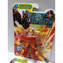 Transformer Robot Camion, Juguete De 10 Cm. Rojo Anaranjado