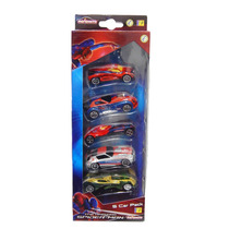 Set De 5 Carritos Spiderman De Kreisel