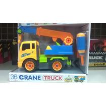 Carro Truck Juguete Grua Y Escavador Armable Y Desarmable