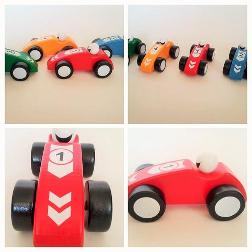 autos de carrera de madera  juguete didactico
