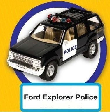 autos de policía - colección miniatura - 4 modelos
