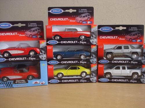 autos die cast chevrolet - marca welly 7 modelos escala 1:43