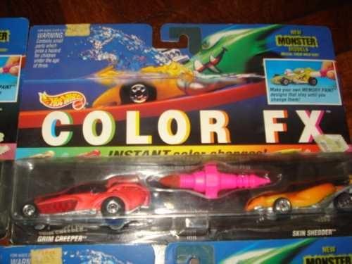 Autos Hot Wheels Cambian De Color Mattel 1994 Nuevos Sin Uso 552