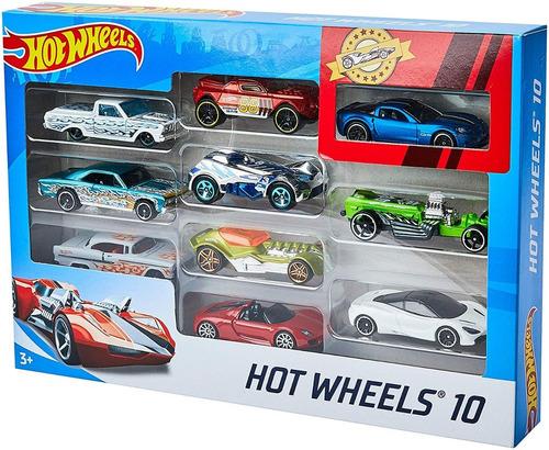 autos hot wheels pack x10 autos original mattel mundo manias