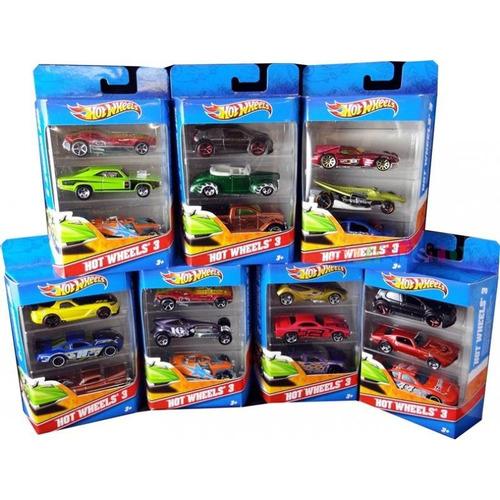 autos hot wheels pack x3 original mattel (k5904)