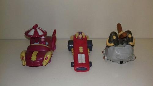 autos locos lote de tres autos de la serie,originales.