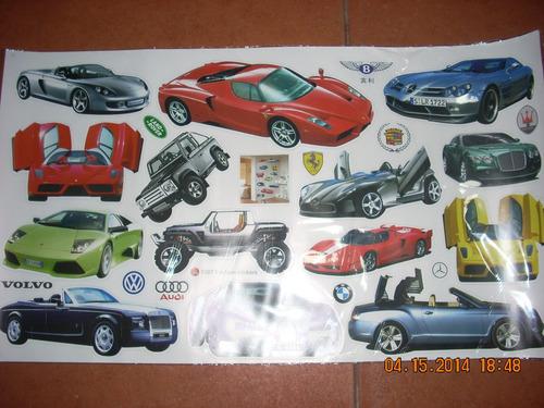 autos, mercedes, ferrari, bugatti stickers pared