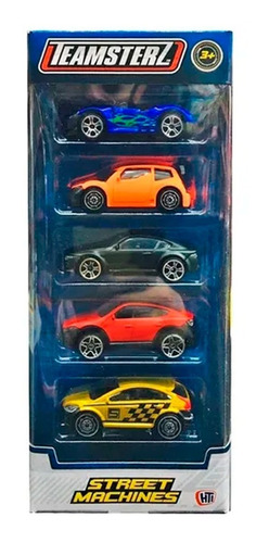 autos metal coleccion pack x5 tipo hot wheels teamsterz full