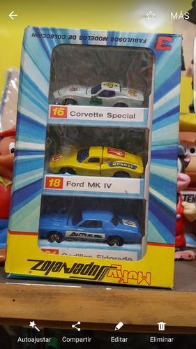 autos muky caja por 3 un.nuevos en su caja original