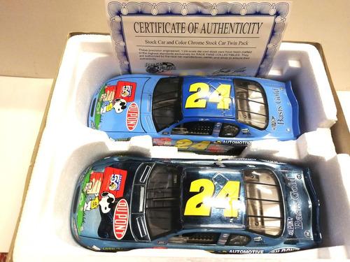 autos nascar (2) de colección montecarlo 2000 escala 1:24