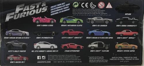 autos rapido y furioso 8 escala 1:24 surtidos klm 97401