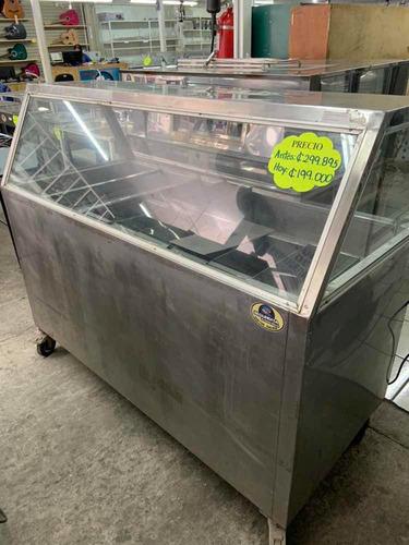 autoservicio baño maría refrigerado acero inox vidrio recto