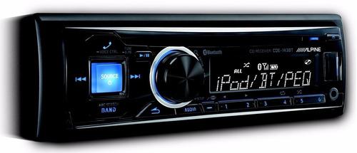 autostereo alpine cde-143bt usb aux bluethoo ipod y iphone