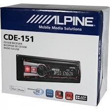 autostereo alpine cde-151 usb, cd, aux, radio