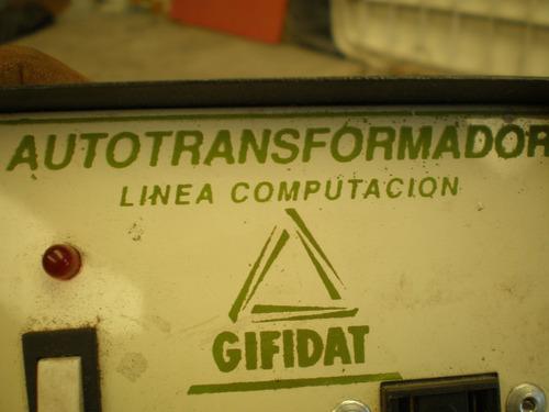 autotranformador linea cmputacion